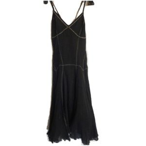 Armani Exchange Dress Small Petite 0 Black Flared